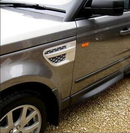 Silver Painted Side Vents 2010 Autobiography Style To fit Range Rover SPORT & HST 2005 - 2009