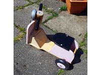 Wooden trike, sit & ride, suitable for 2 to 4 years Mothercare/ELC