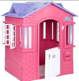 Little tikes children child plastic cape cottage playhouse pink purple
