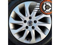 "16"" Genuine alloys Golf Caddy Leon perf cond match tyres."