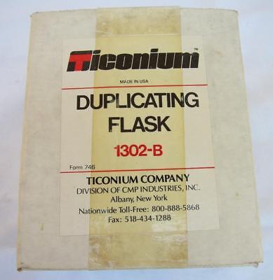 Large Ticonium Duplicating Flask 1302-b - 3 Pc System Dental Denture