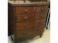 Wooden period chest of drawers