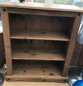 Wooden bookcase -excellent condition