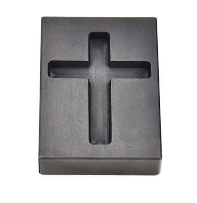 1 oz Gold Cross Graphite Ingot Mold Jewelry Religious Pendant Melting Casting