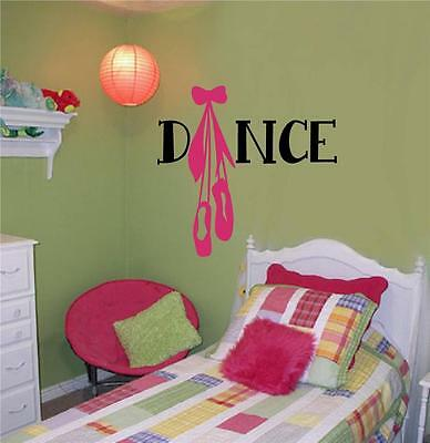 Dance Vinyl Decal Wall Decor Stickers Letters Teen Room Decor Ballet Dancing