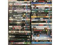 DVD collection of 50 various films for sale