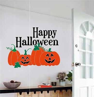 Happy Halloween Pumpkins Decor Vinyl Decal Wall Sticker Words Letters Decoration (Halloween Vinyl Lettering)