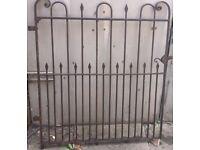 Single vintage/antique steel/wrought iron gate
