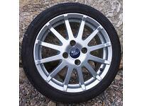 """16"""" Ford Fiesta Zetec S (2005-2009) MK7 12 Spoke 4 Stud Alloy Wheel & Tyre"""