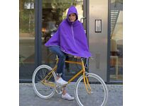 OTTO of London Poncho. Royal Purple.Unisex. Unused. Gorgeous for cycling/ festivals/ urban. £65.