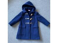 John Lewis age 5 navy duffle coat girls
