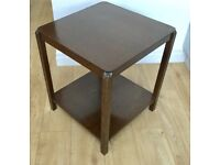 VINTAGE 1960s SIDE TABLE, OCCASIONAL COFFEE TABLE, MID CENTURY, ART DECO FINISH, IDEAL UPCYCLE