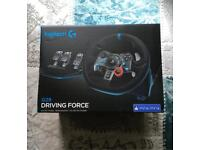 New Logitech G29 Driving Force & Shifter For Ps4 Ps3 Pc