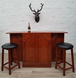 Solid Wood Bar (DELIVERY AVAILABLE FOR THIS ITEM OF FURNITURE)