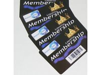 members club special package with 1000 Custom Members Cards & omnidirectional scanner
