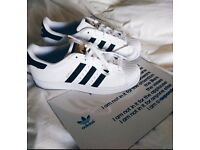 Adidas superstar trainers (Black & white)