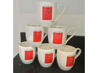 Manchester United souvenir collectors Paul Smith mugs - rare Man Utd memorabilia