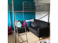Double high sleeper bed frame