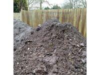 Free waste dirt soil for landfill back fill pond