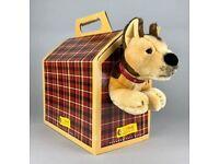 STEIFF -AMERICAN KENNEL CLUB- ALSATIAN GERMAN SHEPHERD PUPPY DOG BEAR 079078 BOXED