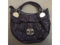 GUESS Purple Handbag with Duster Bag