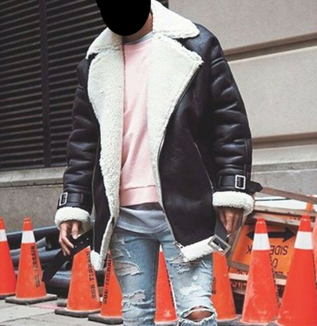 e8b161be4 ASOS Longline faux shearling biker jacket SMALL S M 36 38 40 black Unisex  leather Medium acne womens | in Hackney, London | Gumtree