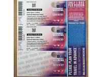 BBC WEEKEND TICKETS x2 Sunday Coventry