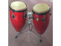 Percussion, Conga Drums and Stand.