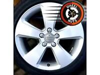 "17"" Genuine Audi Sport alloys excel cond excel tyres."
