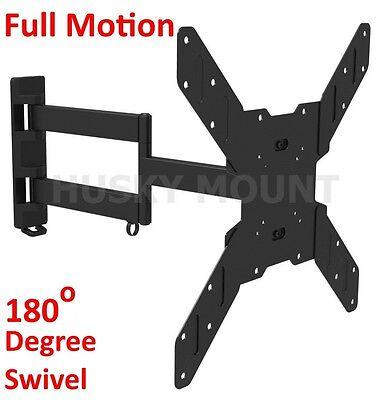 Full Motion TV Wall Mount,Swivel Bracket 32 42 46 50 55 inch LED LCD Flat Screen