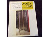 Aqua Dry wet room shower side panel