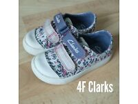 Girls Clarks Shoes 4F Toddler