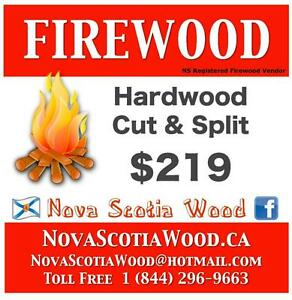 Hardwood Firewood  $219     Delivered    www.NovaScotiaWood.ca  Call Toll free: 1-844-296-WOOD (9663)