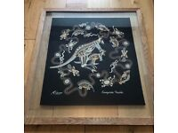 Native Australian Acrylic Framed Painting