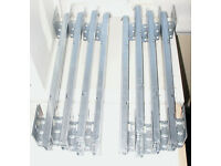 "Heavy duty draw runners, "" NEW "" : 4 x LHS and 4 x RHS = 4 draws"
