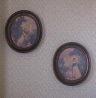 Victorian-Look Collectible Coppercraft Oval Wall Plaques 2PC Set