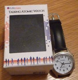 Lifemax Analogue Talking Atomic Watch - Ideal Christams Stocking Filler