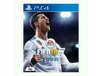 Ps4 game / FIFA 18 / used few times / stil mint condition/ cash or swaps