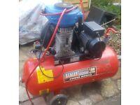 Sealey air compressor 100 litres plus air tools
