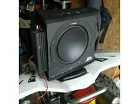 vibe slick amp and vibe 12 slr sub very deep bass