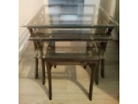 3 part Glass tables £20