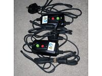 2 x FAULTY OFFICIAL Xbox Original Surge Protector Power Supply UK Cable Lead