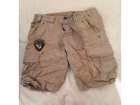 Mens Beige Casual Beach Shorts - Mens Small