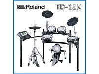 Roland V DRUMS TD-12K & 9 VEX packs electronic drum kit full mesh moving hi hat REFURBISHED