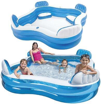 Intex 90'' x 90'' Swim Centre Family Pool with Seats