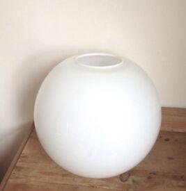 White opal globe glass lamp shade