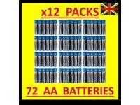 12 x 6 Packs AA Batteries PowerCell Ultra Alkaline 72 Power Cell Battery Bulk Wholesale Job Lot
