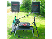 PA System with Mixing Desk for Solo Artist, Band, Disco, Karaoke etc.