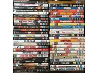 DVD collection of 50 various films, action and comedy