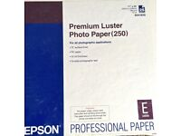 3 BOXES of Epson A2 Premium Lustre Photo Paper (250)